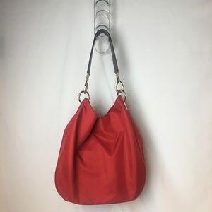Banana Republic Red Nylon Hobo Bag